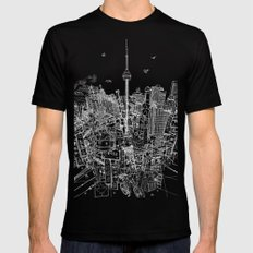 Toronto! Red (Version #2) Black Mens Fitted Tee MEDIUM