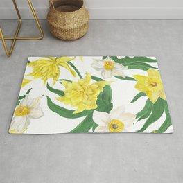 daffodil flowers Rug