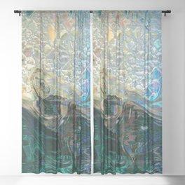 Sea Nymph Abstract Sheer Curtain