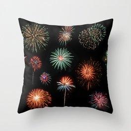 Fireworks Extravaganza Throw Pillow
