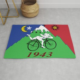 Bicycle Day 1943 Albert Hofmann LSD Rug