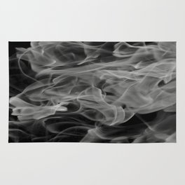Whispers - Black and white abstract Rug