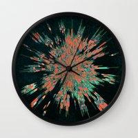 cyberpunk Wall Clocks featuring Tread Lightly by Obvious Warrior