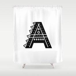 LETTER 'A' IMELA PRINT Shower Curtain
