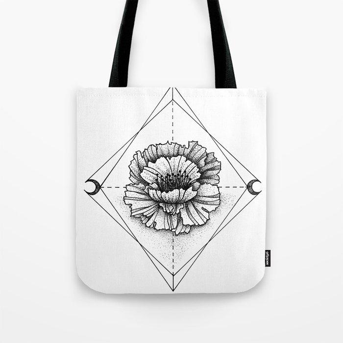 INK FLOWER Tote Bag
