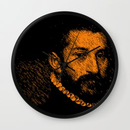 """The black knight"" by Giovanni Battista Moroni Wall Clock"