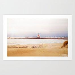 St. Joseph Silver Beach Lighthouse Art Print