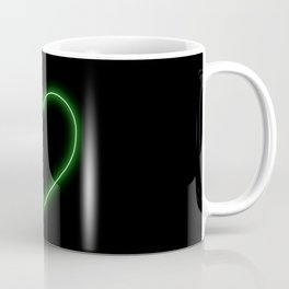 Neon Green Valentines Love Heart Coffee Mug