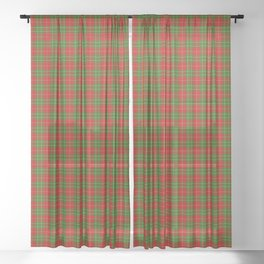 Burnett Tartan Plaid Sheer Curtain