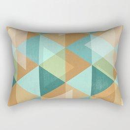 Colorful Diamond Geometric Design Rectangular Pillow