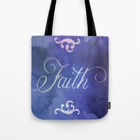 faith Tote Bags featuring Faith by Camille