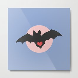 I love Bats - Pastel Metal Print