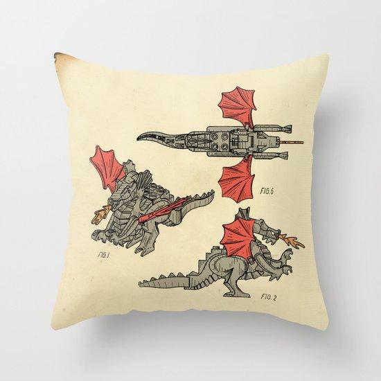 Lego Dragon Throw Pillow
