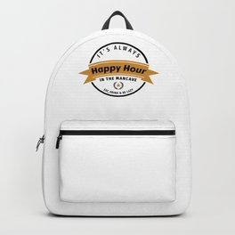 Man Cave, Shed Bar Graphic - Funny Quote For Beer Drinkers, design Backpack