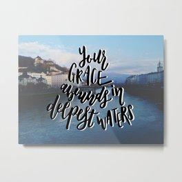 Grace in Deep Waters Metal Print