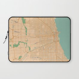 Chicago Map - Color Laptop Sleeve