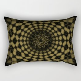 Golden Funnel Rectangular Pillow