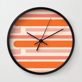 SHERBET STRIPES Wall Clock