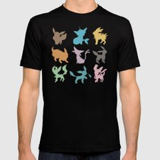Eeveelution Black X-LARGE Mens Fitted Tee