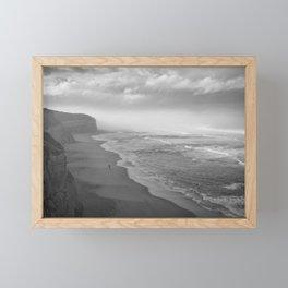 First Footsteps On The Beach Framed Mini Art Print