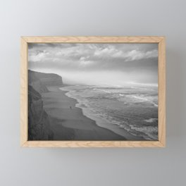 First Footsteps On The Beach Framed Mini Art Print