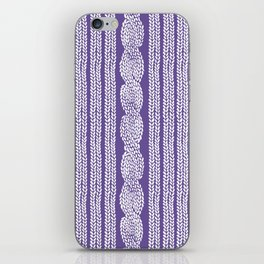 Cable Stripe Violet iPhone Skin
