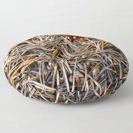 pine needles in yosemite Floor Pillow