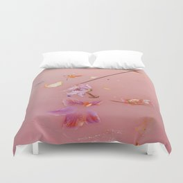 Pink Bath Photoshoot Duvet Cover