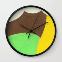 ford Wall Clocks featuring Ford Pistache by EarthontheRoad