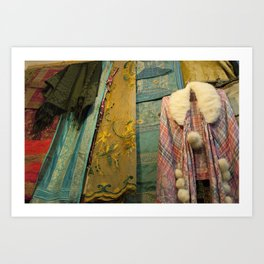 Fabrics! Art Print