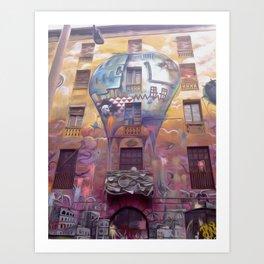Barcelona's graffiti Art Print