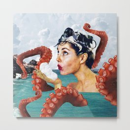 Ursula the Sea Creature Metal Print