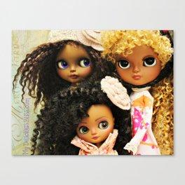 My Delicious Bliss Custom Beautiful Brown Blythe Art Dolls Canvas Print