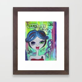 With all my QUIRKS Framed Art Print