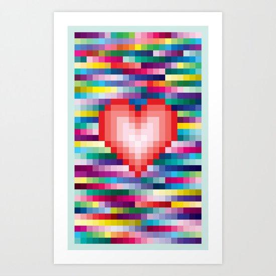 Mega ☐ Love Art Print