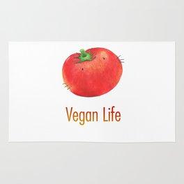 Vegan Life happy tomato Rug