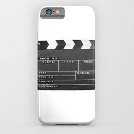 Film Movie Video production Clapper board iPhone Case