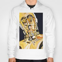 c3po Hoodies featuring C3PO by Laura-A