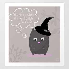 Cat Witch Art Print