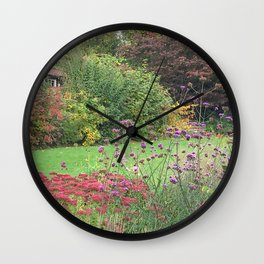 English Summer Wall Clock