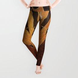 art deco wood Leggings