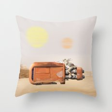 Rey's Speeder  Throw Pillow