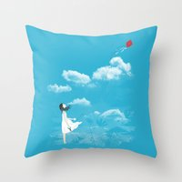 let it go Throw Pillows featuring Let Go by I Love Doodle