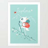 explore Art Prints featuring Explore by Freeminds
