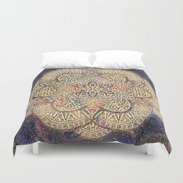 Gold Morocco Lace Mandala Duvet Cover