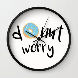 Donut Worry Blue Wall Clock