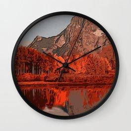 Wyoming Grand Teton National Park in Autumn Wall Clock