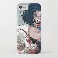 mia wallace iPhone & iPod Cases featuring Mia Wallace by Azahara Blue