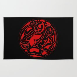 Abstract Indigenous Ornament Rug