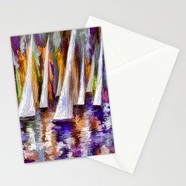 Sailboats Stationery Cards